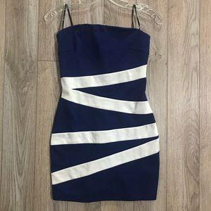 Blue strapless